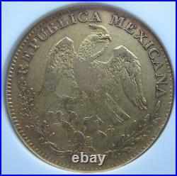 Mexico 1840 GO PJ Gold 8 Escudos NGC VF-35