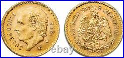 Mexico 1955 5 Pesos Gold Coin