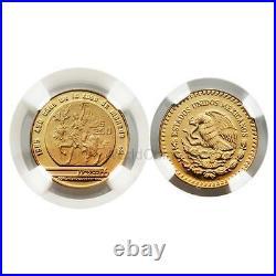 Mexico 1985 (1986 World Cup Soccer Games) 250 Pesos 1/4 oz Gold NGC PF69