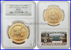 Mexico 1992 Native Culture Jaguar $1000 1 oz Gold NGC MS-69
