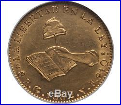 Mexico Republic gold coin 8 Escudos 1862 Go-YE AU58 NGC