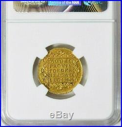 NETHERLAND UTRECHT 1750 RARE GOLD DUCAT (3.48g) NGC AU58 $548.88