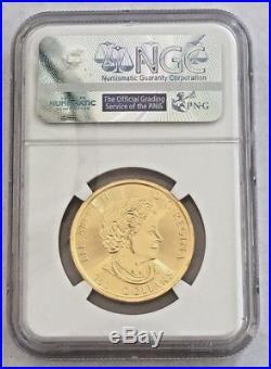 NGC 2017 1.5 oz Gold Maple Leaf $150 Coin. 9999 Fine GEM UNCIRCULATED MEGALEAF