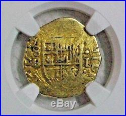 Nd(1556-1598)b Spain Felipe II Gold Cob 1 Escudo Ngc Vf-details L@@k