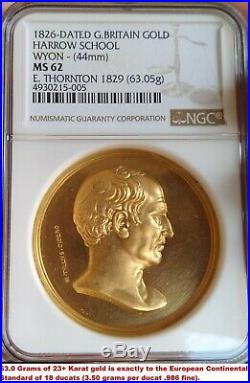 Ngc Britain 1826 William Wyon 18 Ducats Gold Royal Mint-not A Restrike-ex Rare