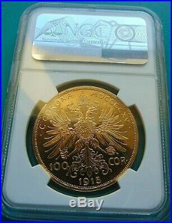 Österreich / Austria 100 Corona Kronen 1915 Gold PP PROOF NGC PF-63 CAMEO