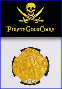 Peru 1711 Finest 8 Escudos Ngc 62 1715 Fleet Shipwreck Gold Treasure Coin Fisher