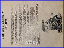 Peru 8 Escudos 1711 1715 Fleet Pirate Gold Coins Shipwreck Treasure Doubloon