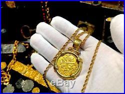 Peru 8 Escudos 1715 Fleet Pendant Jewelry Pirate Gold Coins Shipwreck Treasure