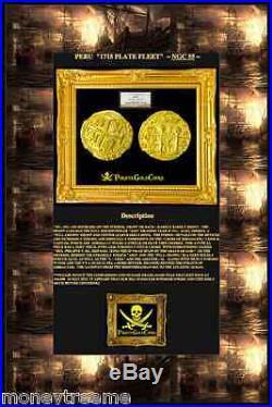 Peru Gold Coin 1711 Cob 8 Escudos Ngc 55 Sunken Treasure Plate Fleet Doubloon