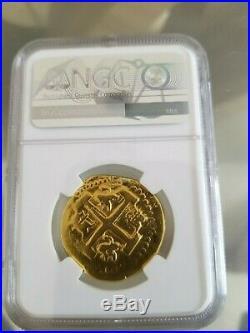 Peru Lima 8 Escudos 173X Shipwreck gold coins NGC 4485346-003 Rare Treasure