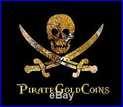 Peru Skull Pendant Lima 1710 8 Escudos Gold Coin Shipwreck Treasure Jewelry