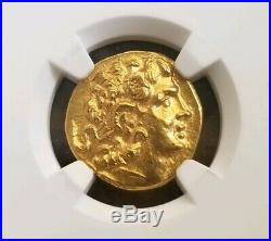 Pontic Kingdom Mithradates Gold Stater NGC Choice MS 5/5 Ancient Coin Alexander