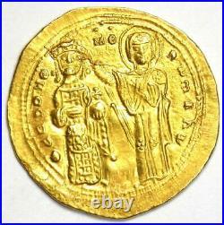 Romanus III AV Gold Histamenon Nomisma Christ Mary Coin 1028-34 AD NGC MS UNC