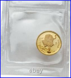 Singapore 1986 Year of Tiger 1/20 oz Gold Coin