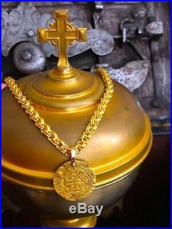 Spain 1516 1 Escudo Pendant Necklace Jewelry Pirate Gold Coins Shipwreck Treasur