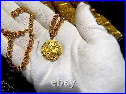 Spain 1590-93 Ducado Pirate Gold Coins Jewelry Necklace Shipwreck Treasure
