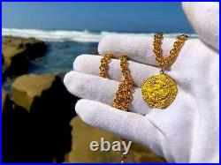 Spain 1590-93 Ducado Pirate Gold Coins Jewelry Necklace Shipwreck Treasure King