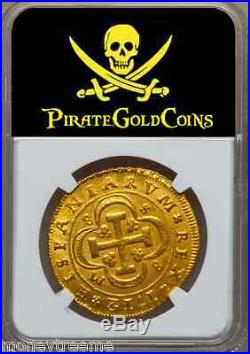 Spain 1712 Gold 8 Escudos Finest Known Doubloon Coin Treasure Shipwreck Pirate