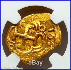Spain 1 Escudo 1626 Dated- Atocha Era Gold Cob Doubloon Ngc 40 Coin! Treasure