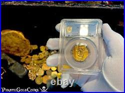 Spain 2 Escudos 1556-1621 Pcgs 45 Atocha Era Pirate Gold Coins Treasure Loot