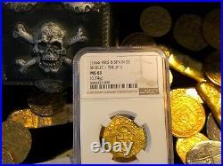 Spain 2 Escudos 1556-98 Ngc 63 Pirate Gold Coins Shipwreck Treasure Atocha Era