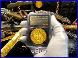 Spain 8 Escudos Ngc Gold Pendant Jewelry Fleet Era Treasure Pirate Gold Coins