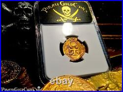 Spain Dated 1622 2 Escudos Ngc 45 Atocha Year Treasure Pirate Gold Coins Cob